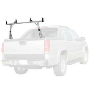 Vantech P3000 1 Bar Aluminum Ladder Rack W Side Supports Anodized Silver