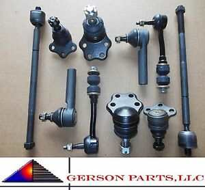 Upper Lower Ball Joint Inner Outer Tie Rod Sway Bar Links Dakota Durango 2wd