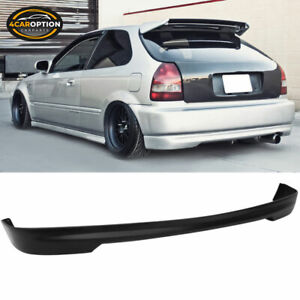 Fits 96 00 Honda Civic 3dr Hatchback Pu Rear Bumper Lip Spoiler T r