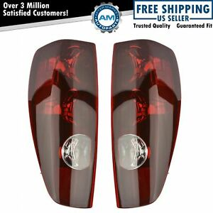 Taillights Taillamps Rear Brake Lights Pair Set New For 04 12 Colorado Canyon