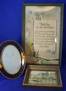 Lot Of 3 Vintage Antique Picture Frames 1920 S 30 S Authentic Prints