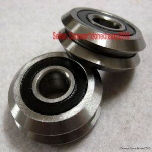 Lot 18x New Rm2zz 3 8 9 525 30 73 11 1mm V Groove Sealed Ball Vgroove Bearing