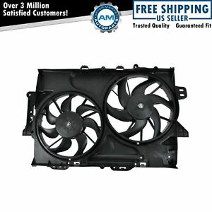 Radiator Dual Cooling Fan Assembly For 10 12 Chevy Equinox Gmc Terrain 3 0l V6