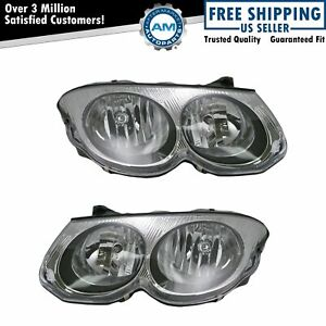 Headlights Headlamps Left Right Pair Set New For 99 04 Chrysler 300m