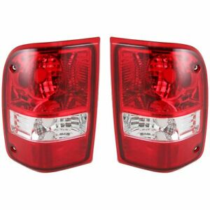 Taillights Taillamps Rear Brake Lights Pair Set For 06 11 Ford Ranger Pickup