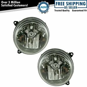 Headlights Headlamps Left Right Pair Set New For 05 07 Jeep Liberty