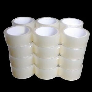 Case Of 24 X 2 Inch Rolls Of Packing Sealing Tape Free Shipping Clear Packaging