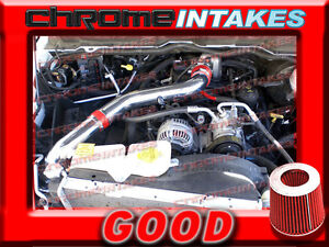 Red 02 03 04 05 06 07 Dodge Ram 1500 4 7 4 7l V8 Full Cold Air Intake Stage 3