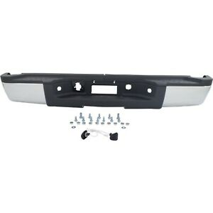 Step Bumper For 2007 2010 Chevrolet Silverado 2500 Hd Fleetside Chrome Rear