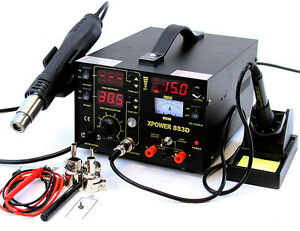 3in1 Smd Multi Function Soldering Station Hot Air Rework 15v Dc Power Supply