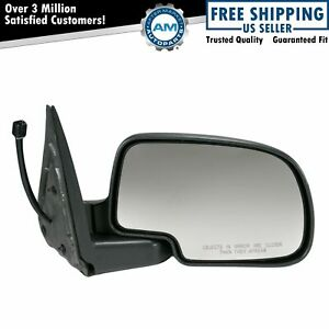 Power Heated Mirror W Puddle Light Textured Passenger Right Rh For Chevy Gmc