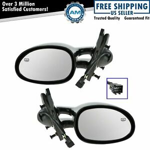 Power Heated Side View Mirrors Pair Set New For 95 00 Stratus Breeze Cirrus