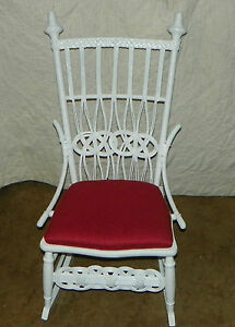 White Wicker Rocker Rocking Chair R153