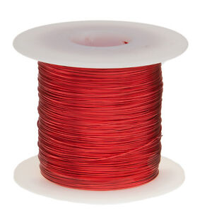 26 Awg Gauge Enameled Copper Magnet Wire 1 0 Lbs 1280 Length 0 0168 155c Red