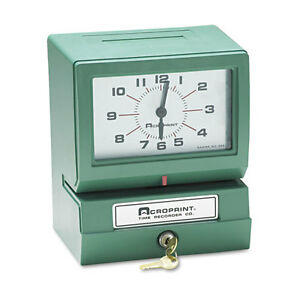Acroprint Model 150 Heavy duty Analog Auto Print Time Clock Ea Acp01207040a