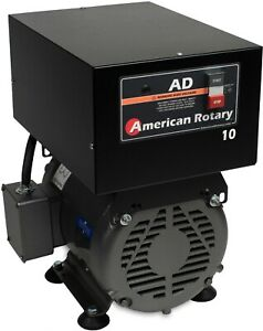 Rotary Phase Converter Ad10f Floor Unit 10hp Digital Controls Heavy Duty Cnc