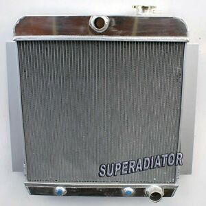 3 Row Aluminum Radiator Fit For 1955 1959 Chevy Pickup Truck New 1956 1957 1958