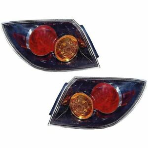 Taillight Tail Lamp Pair Set For 2004 06 Mazda 3 Hatchback