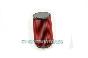 Red 2005 Universal 152mm 6 Inches Diameter Truck Dry Air Intake Filter