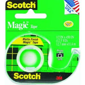 144 Pk 3m 1 2 X 450 Scotch Magic Transparent Tape W dispenser 104