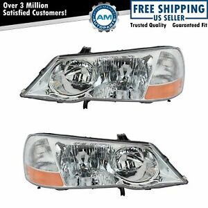 Hid Xenon Headlights Headlamps Left Right Pair Set New For 02 03 Acura Tl