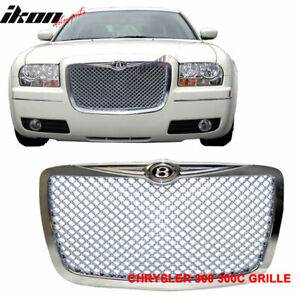 Fits 05 10 Chrysler 300c 300c Chrome Mesh Grille B Style Front Grill