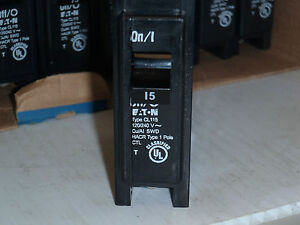 New Eaton Cutler Hammer Serries 15 Amp Classified Circuit Breaker 27 Total
