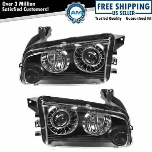 Hid Xenon Headlights Headlamps Left Right Pair Set For 08 10 Dodge Charger