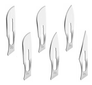 60 Surgical Sterile Scalpel Handle Blades 20 21 22 23 24 25 fit Handle 4