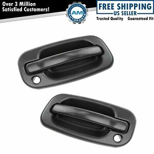 Door Handles Outside Exterior Black Front Left Right Pair Set For Chevy Gmc