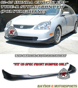 Tr Style Front Lip Urethane Fits 02 05 Civic 3dr Si Ep3