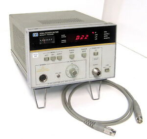 Hp agilent 436a 002 Power Meter With Cable 70 Dbm To 44 Dbm sensor Dependent