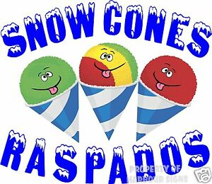 Snow Cones Raspados Decal 14 Sno Shaved Ice Concession Cart Food Truck Vinyl