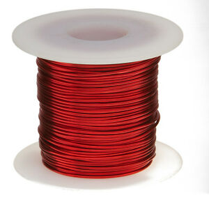 16 Awg Gauge Enameled Copper Magnet Wire 1 0 Lbs 126 Length 0 0520 155c Red