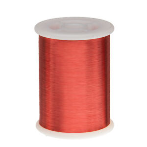 42 Awg Gauge Enameled Copper Magnet Wire 1 0 Lbs 51313 Length 0 0026 155c Red