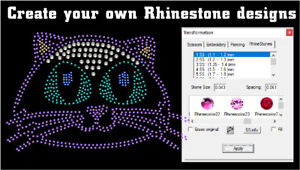 Strass Rhinestone Funtime Software Cut With Silhouette Cameo Die Cutter
