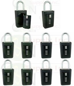 10 Lockboxes Realtor Key Storage Lock Box Real Estate 4 Digit Lockbox
