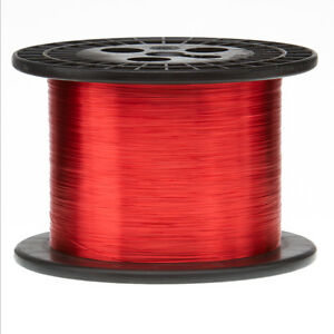 30 Awg Gauge Enameled Copper Magnet Wire 5 0 Lbs 16060 Length 0 0108 155c Red