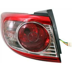 Tail Light For 10 12 Hyundai Santa Fe Driver Side Outer Body Mounted