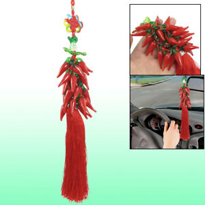 Auto Car Hanging Decoration Red Chili Pendant Chinese Knot Ornament
