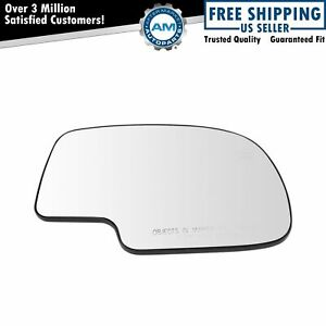 Mirror Glass Power Heated Right Rh Passenger For Chevy Silverado Yukon Avalanche