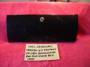1951 Cadillac Series 62 Factory Gm Oem Glove Box Lock Assembly Free Shipping