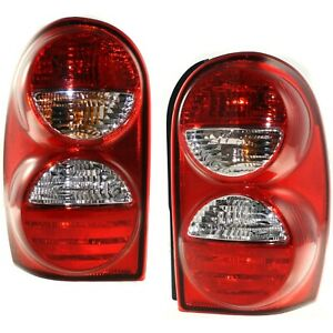 Rear Taillights Taillamps Left Right Pair Set New For 05 07 Jeep Liberty