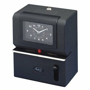 Lathem Manual Work Time Clock Month date hours minute Charcoal lth2101