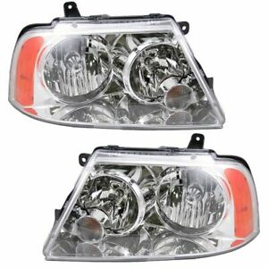 Hid Xenon Headlights Headlamps Left Right Pair Set For 03 06 Lincoln Navigator
