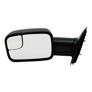Tow Mirror For 2002 2009 Dodge Ram 1500 Driver Side Manual Fold Blind Spot
