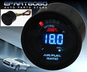 2 52mm Air Fuel Ratio Jdm Volt Blue Digital Led Auto Gauge Meter Civic Integra