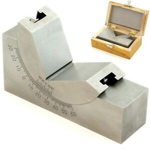 4 X 1 3 16 Precision Angle Block Adjustable Toolmaker Gauge 0 60 Degree