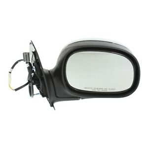 Power Side View Mirror Chrome Black Passenger Right Rh For Ford F150 Truck