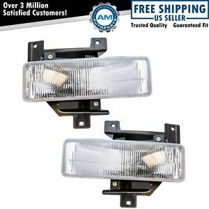 Fog Driving Light Pair Set Kit For 97 98 F150 F250 Expedition Pickup Truck Suv